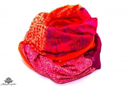 Winterschal pink orange