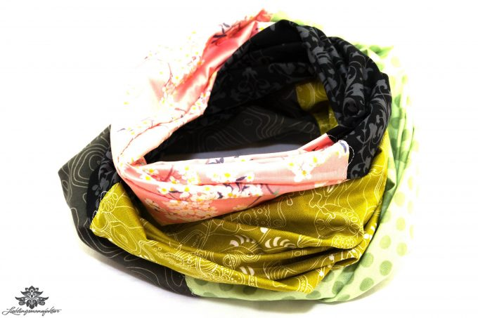 Loop grün schwarz rosa