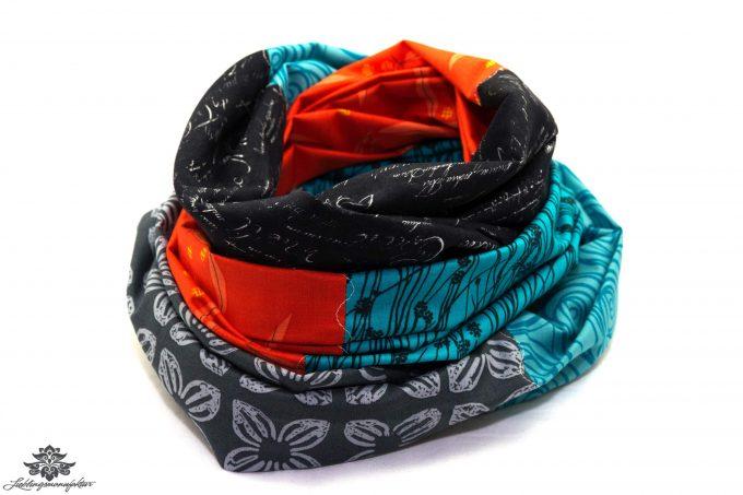 Schal Baumwolle blau