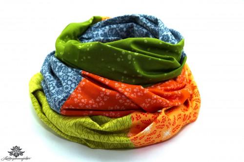 Tuch orange grün