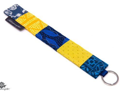 Stoffschlüsselanhänger blau