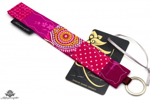 Stoffschlüsselanhänger pink