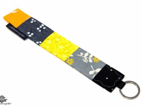 Stoffschlüsselanhänger gelb