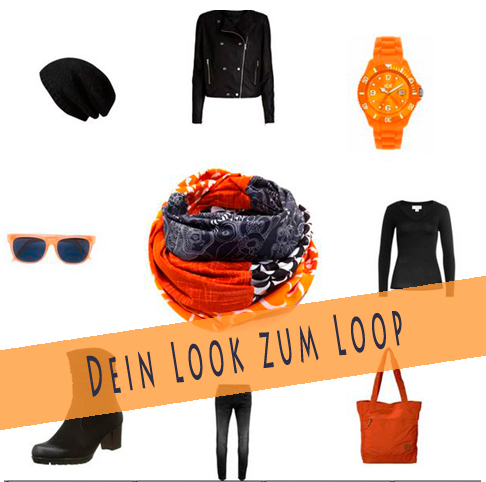 Look orange schwarz