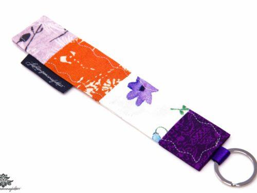 Schlüsselanhänger lila orange