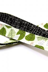 Stoffschlüsselband Blättermuster