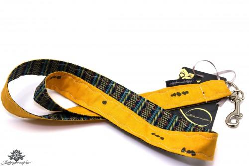 Stoffschlüsselband gelb