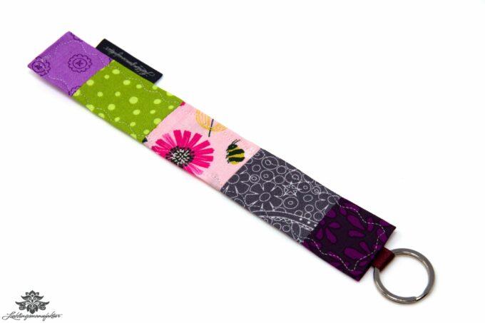 Schlüsselanhänger rosa grau