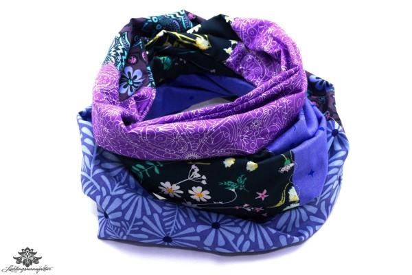 Tuch lila flieder dunkelblau