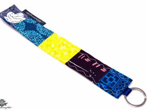 Schlüsselanhänger blau handmade