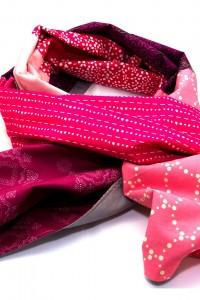 Tuch pink grau