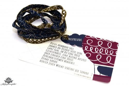 Stoffband Armband