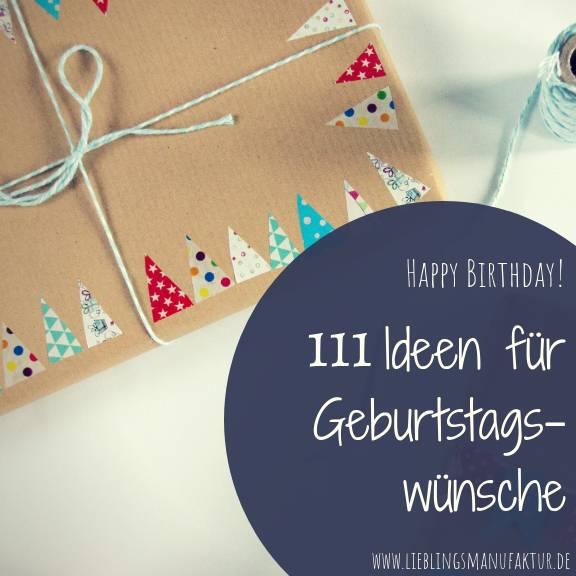 Geburtstagswünsche 111 Ideen Karte
