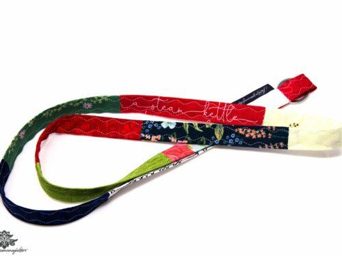 Schlüsselband Lanyard rot blau grün