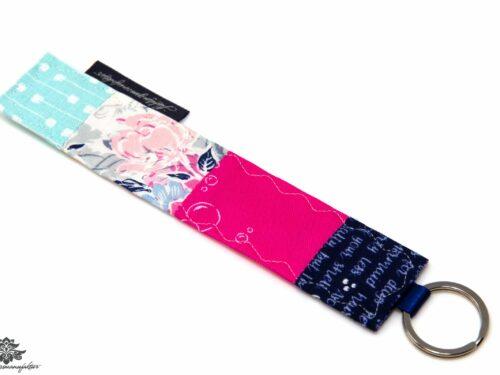 Schlüsselanhänger pink blau
