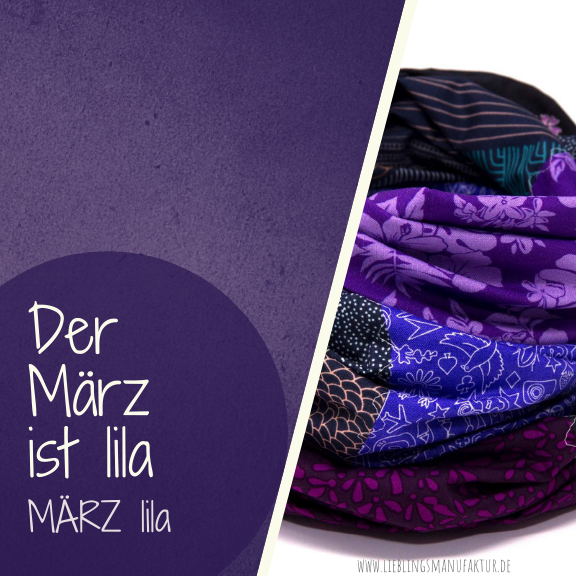 März Farbe des Monats lila