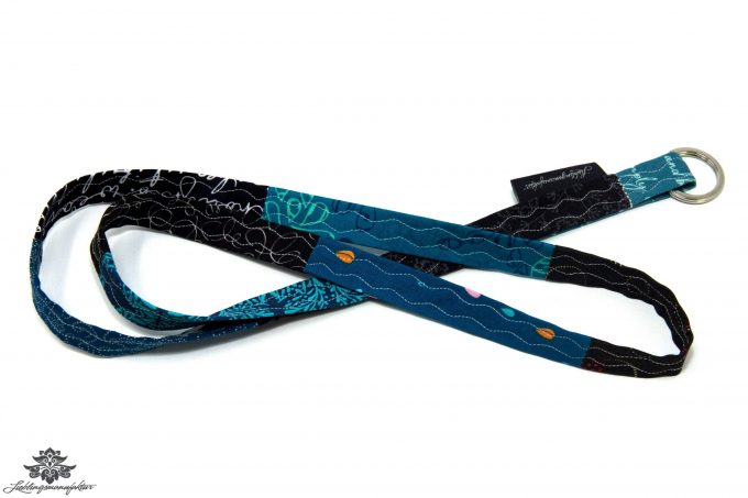Schlüsselband Lanyard blau schwarz