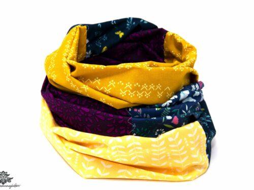 Tuch dunkelblau gelb