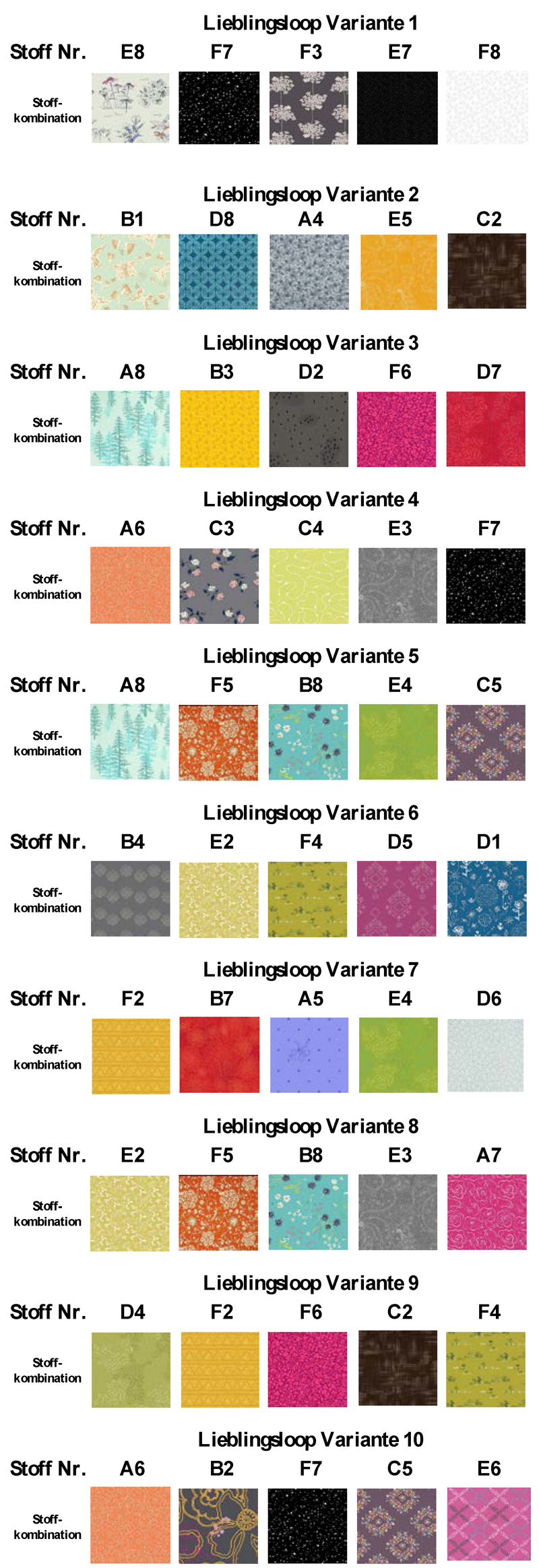 Individueller Loop - 48 Stoffe zur Wahl