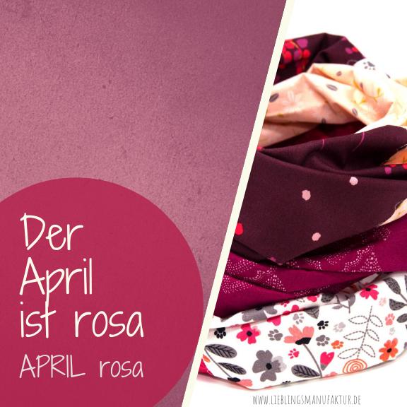 April Farbe des Monats rosa